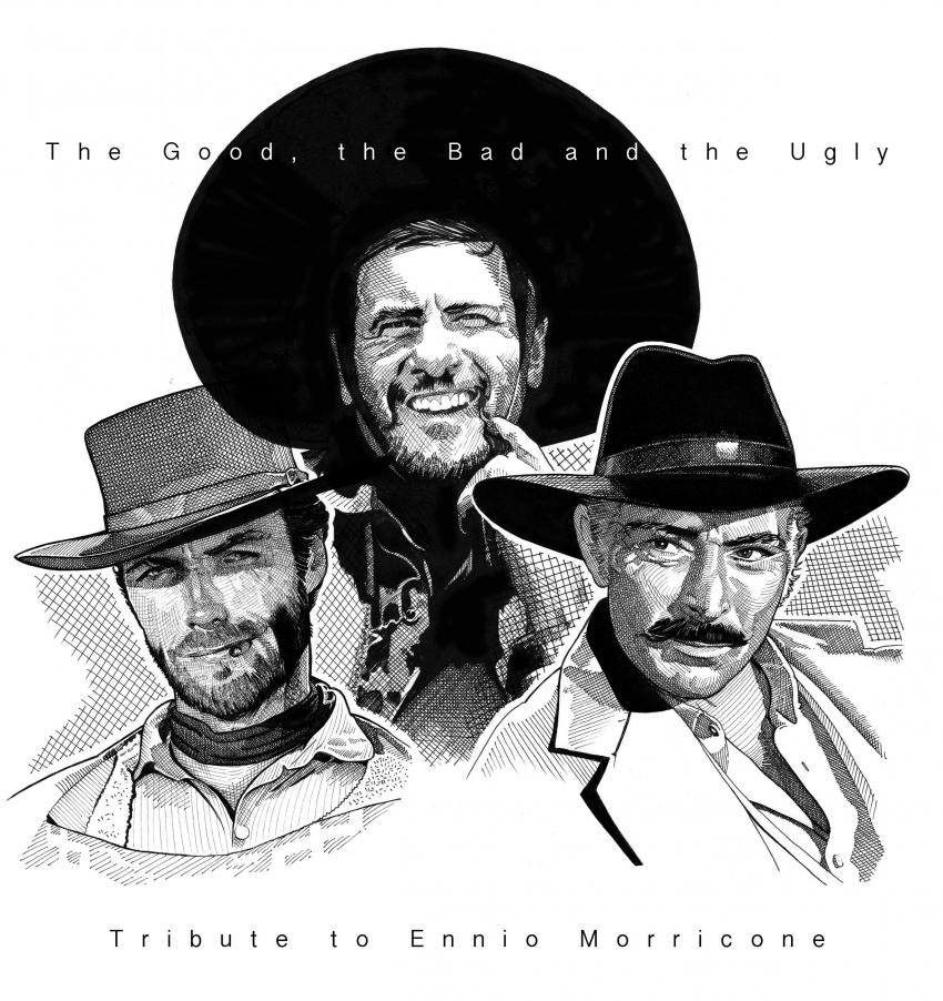 Clint Eastwood, Eli Wallach, Lee Van Cleef by Stefanosart